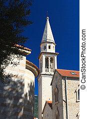 st. 。, モンテネグロ, 教会, カトリック教, ジョン, 大聖堂, budva.