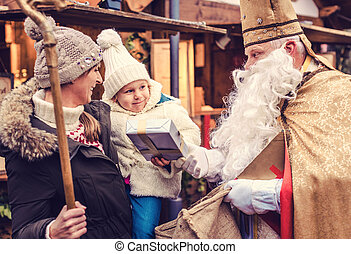st., 市場, nikolaus, クリスマス, 家族