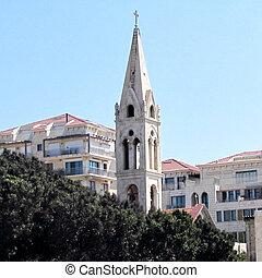 st., 教会, タワー, ジョージ, jaffa, 2012