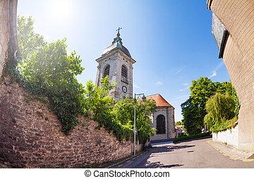 st. 。, 日当たりが良い, フランス, 日, besancon, 大聖堂, ジーン