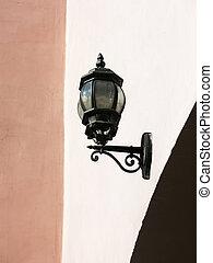st. 。, 通り, petersburg, ランプ, wall.