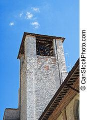 St. Agostino Belltower. Gubbio. Umbria.