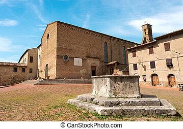St. Agostino Church - San Gimignano Italy - Church of Sant'...
