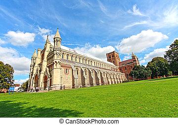 st, albans, 大教堂, 腺, 英国