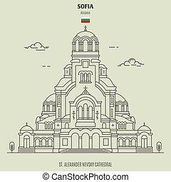 St. Alexander Nevsky Cathedral in Sofia, Bulgaria. Landmark...