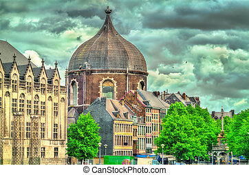 St. Andre church in Liege, Belgium - View of St. Andre ...