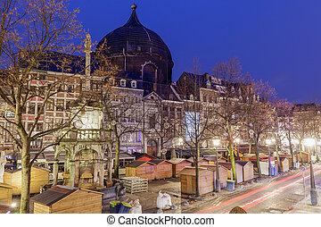 St. Andre Church on Place Saint Lambert in Liege . Liege, ...