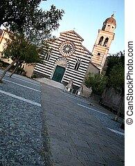 St. Andrea church, Levanto - St. Andrea church at sunset, ...