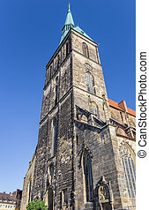 St. Andreas church in the historic center of Hildesheim,...