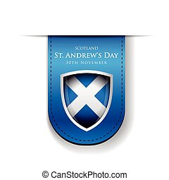 St Andrew Day Scotland flag shield
