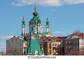 st. 。, andrew`s, 教会, kiev, ウクライナ