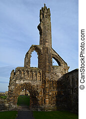 St Andrew's Cathedral Walls Remain as Ruins