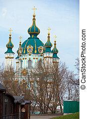 St. Andrew's Church in Kiev, Ukraine