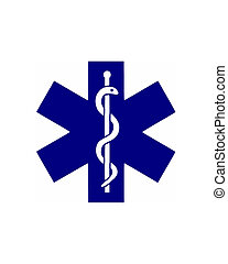 St Andrew's cross - Illustration of the medical symbol