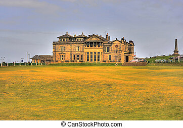 St. Andrews golf clubhouse - St Andrews Links in the town of...
