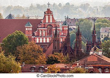 St Anne and Bernadine Churches in Vilnius