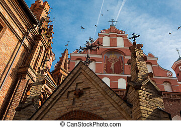 st., anne, chiesa, e, chiesa san. francis, e, bernadine, insieme, in, vilnius