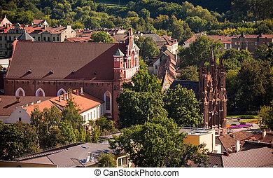 st., anne, chiesa, in, vilnius, lituania