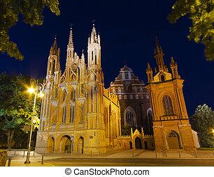 st., anne, chiesa, vilnius, lituania