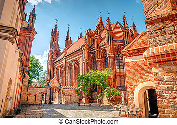 St. Anne church in Vilnius, Lithuania, HDR photo