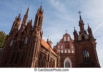 St. Anne's Church and Church of St. Francis and Bernadine ensemble in Vilnius, Lithuania