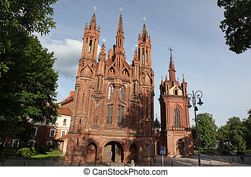 St. Anne's church in Vilnius old town, Lithuania