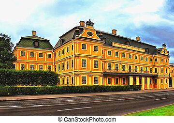 st., antiga, petersburg, palácio, menshikov
