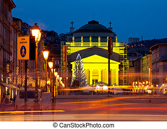St. Antonio cathedral, Trieste - View of St. Antonio ...