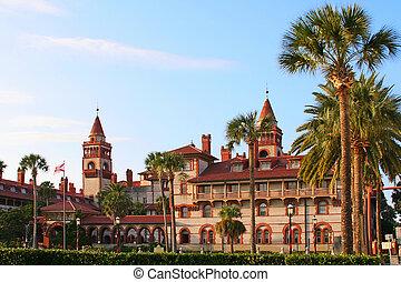 St. Augustine City Hall & Lightner Museum, Florida, USA -...