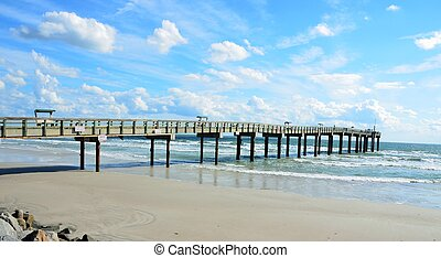 fishing pier at st augustine beach florida usa