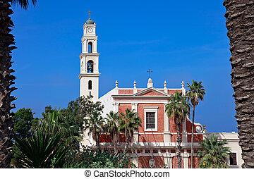 st. 。, aviv, 古い教会, -, ∥電話番号∥, ピーター, jaffa
