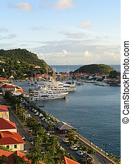 St  Barth harbor, Gustavia