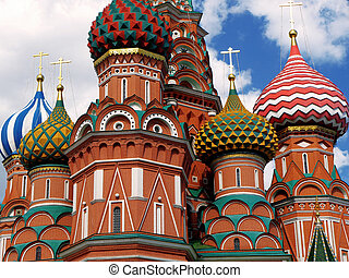 St. Basil Cathedral in Moscow city. Russia