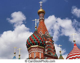 St. Basil Cathedral in Moscow. Russia