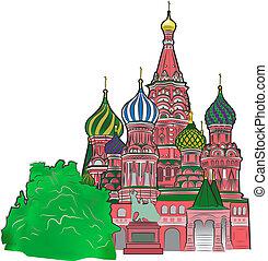 St Basil vector illustration color