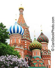 st.  basilika, cathederal, på, den, röda fyrkantiga, in, moskva