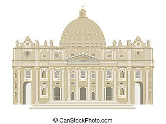 st., basilika, peters, vatikanen