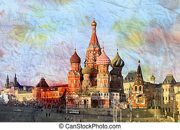 St Basils Cathedral in Moscow Beautiful