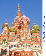 St. Basil\'s cathedral in Moscow