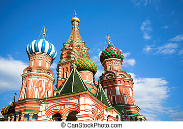 St. Basil\'s Cathedral on Red square, Moscow, Russia