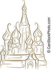St. Basil's Cathedral - Sketch of the Saint Basil's...