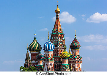 St. Basil's Cathedral in Red Square in Moscow