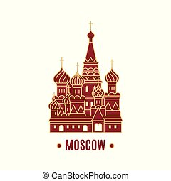 St. Basil's Cathedral vector illustration isolated on white background.