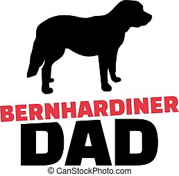 St. Bernard dad with dog silhouette german
