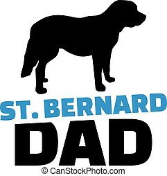 St. Bernard dad with dog silhouette