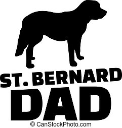 St. Bernard dog dad