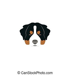 St. Bernard dog head. Vector illustration style Flat.
