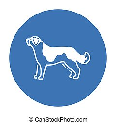 St. Bernard dog vector icon in black style for web - St....