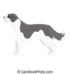 St. Bernard dog vector icon in monochrome style for web -...