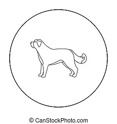 St. Bernard dog vector icon in outline style for web - St....